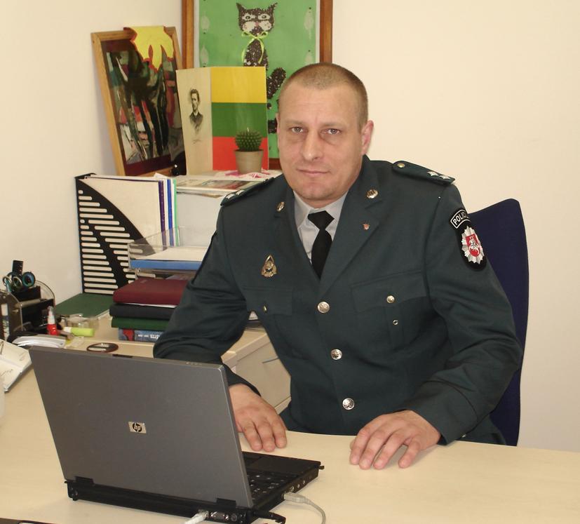 Paskirtas naujas Vilniaus apskrities vyriausiojo policijos komisariato Elektrėnų policijos komisariato viešosios tvarkos skyriaus prevencijos poskyrio Vievio policijos nuovados viršininkas