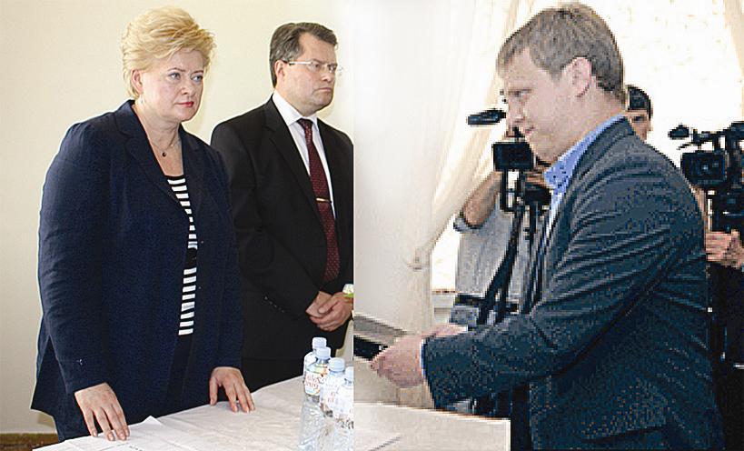 Danas Dambrauskas Prezidentei įteikė peticiją su 3000 gyventojų parašais
