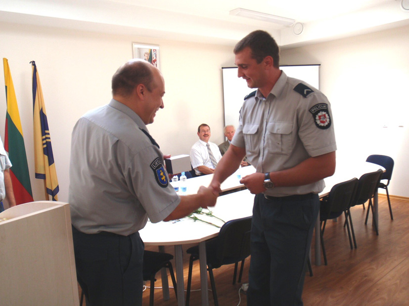 Aptarti policijos veiklos rezultatai ir  paskatinti aktyviausieji policijos pareigūnai