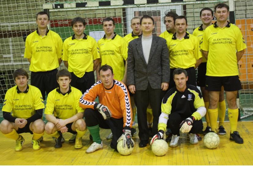 Elektrėnų futbolininkų pergalė Lietuvos pirmenybėse
