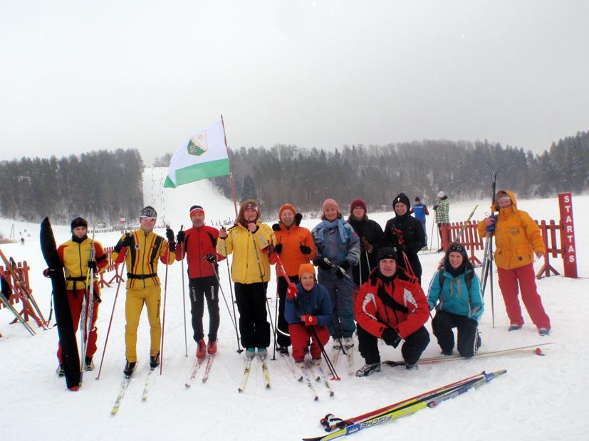 Ignalinoje varžėsi slidininkai