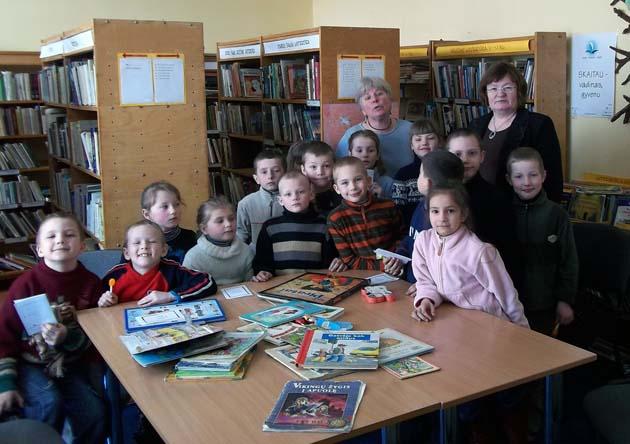 Semeliškių bibliotekoje – vaikiškos knygos savaitė