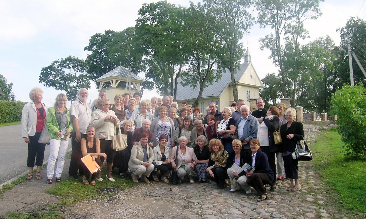 Lenkų senjorų viešnagė Semeliškėse