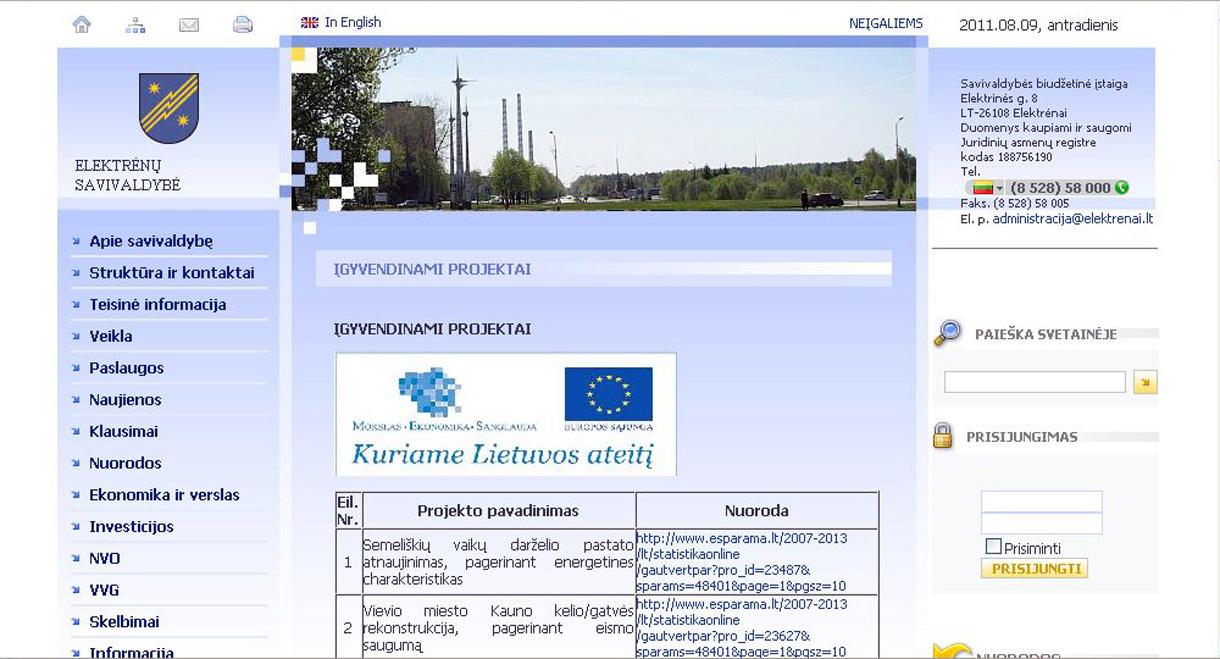 Elektrėnų savivaldybės interneto svetainė – geriausia savivaldybės svetainė Lietuvoje