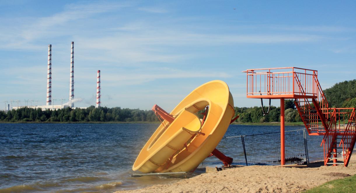Paplūdimys įrengtas bus tik vėlų rudenį