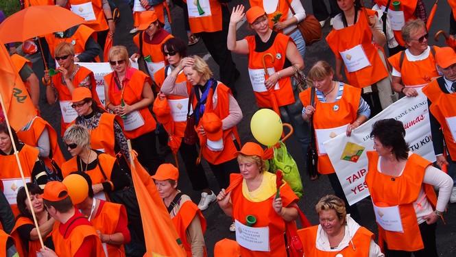 Elektrėniečiai dalyvavo demonstracijoje Lenkijoje