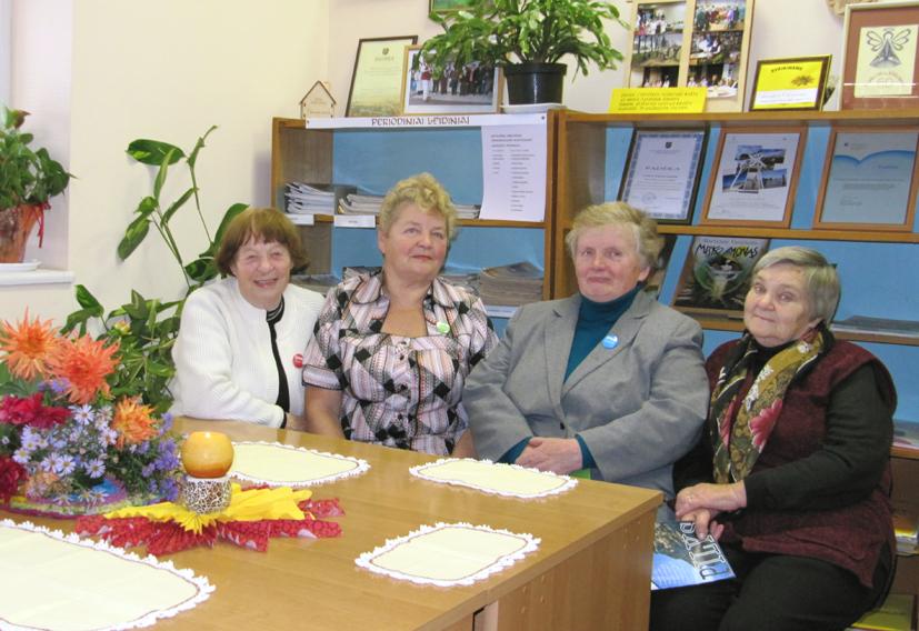 Aktyvios Kietaviškių moterų klubo narės