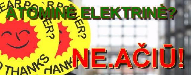 Startavo parašų rinkimas referendumui dėl Visagino atominės elektrinės