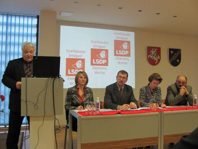 Lietuvos socialdemokratų partijos Elektrėnų skyriaus ataskaitinis susirinkimas: geros naujienos