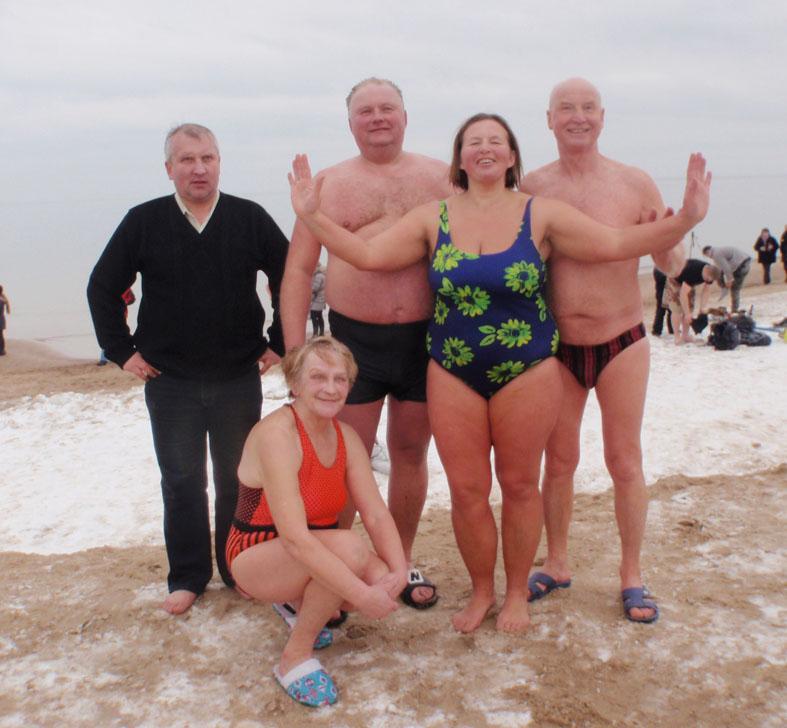 Elektrėniečiai ruoniai maudėsi Baltijos jūroje