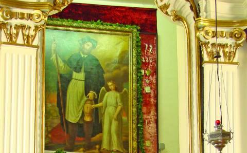 Semeliškių Šv. Lauryno bažnyčios įžymybė –  Šv. Roko paveikslas ir stebuklai