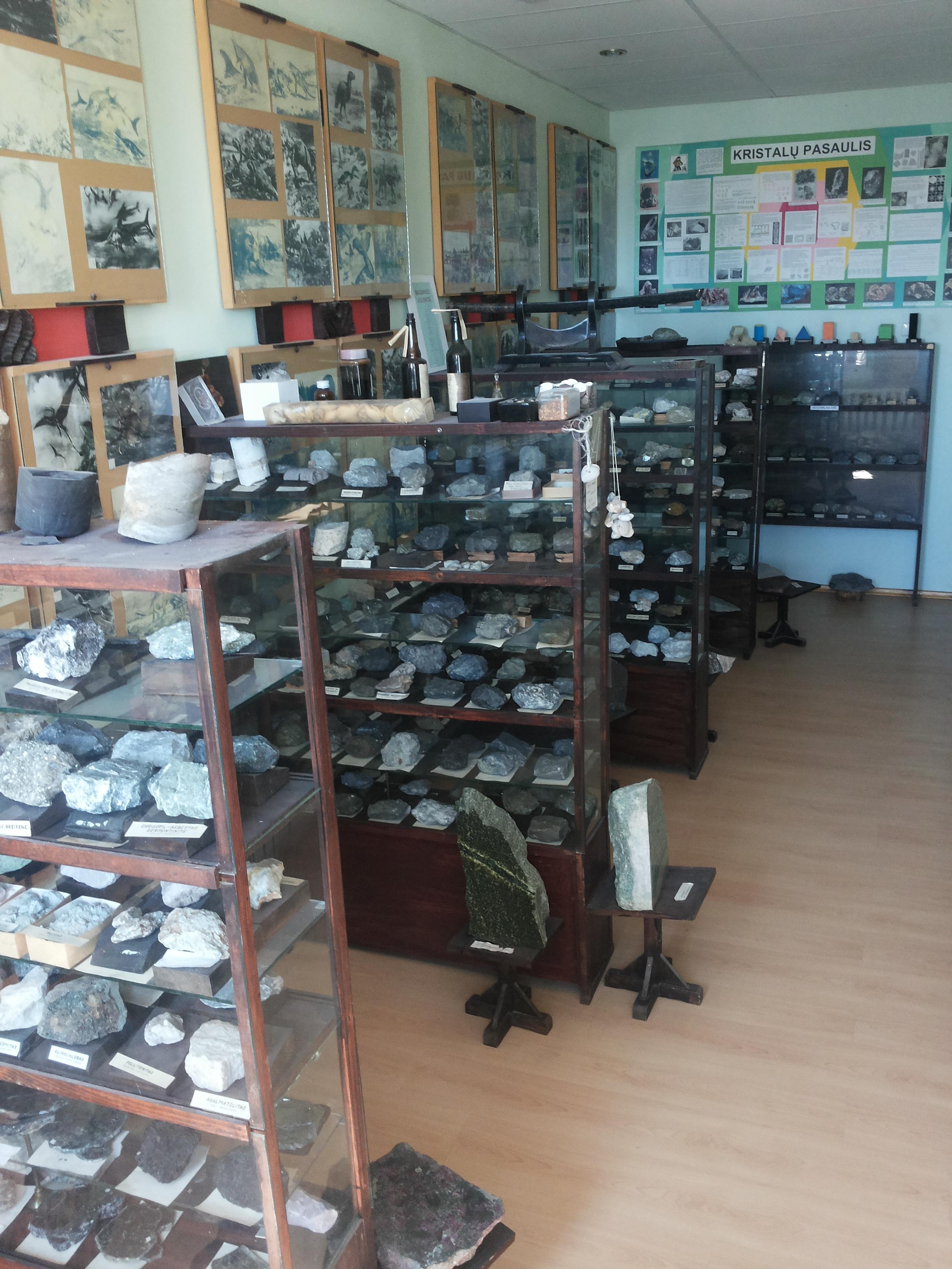 Vievio kelių muziejaus Geologijos skyrius
