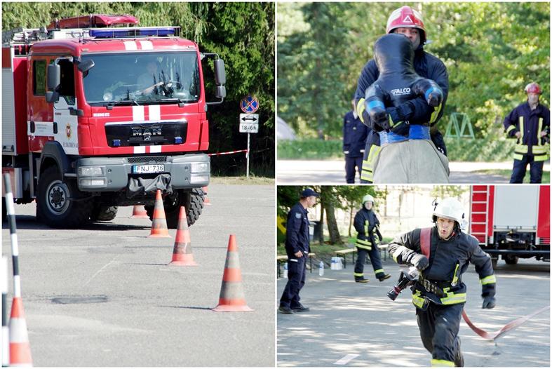 Elektrėnų ugniagesiai – tarp geriausių ir stipriausių Lietuvoje