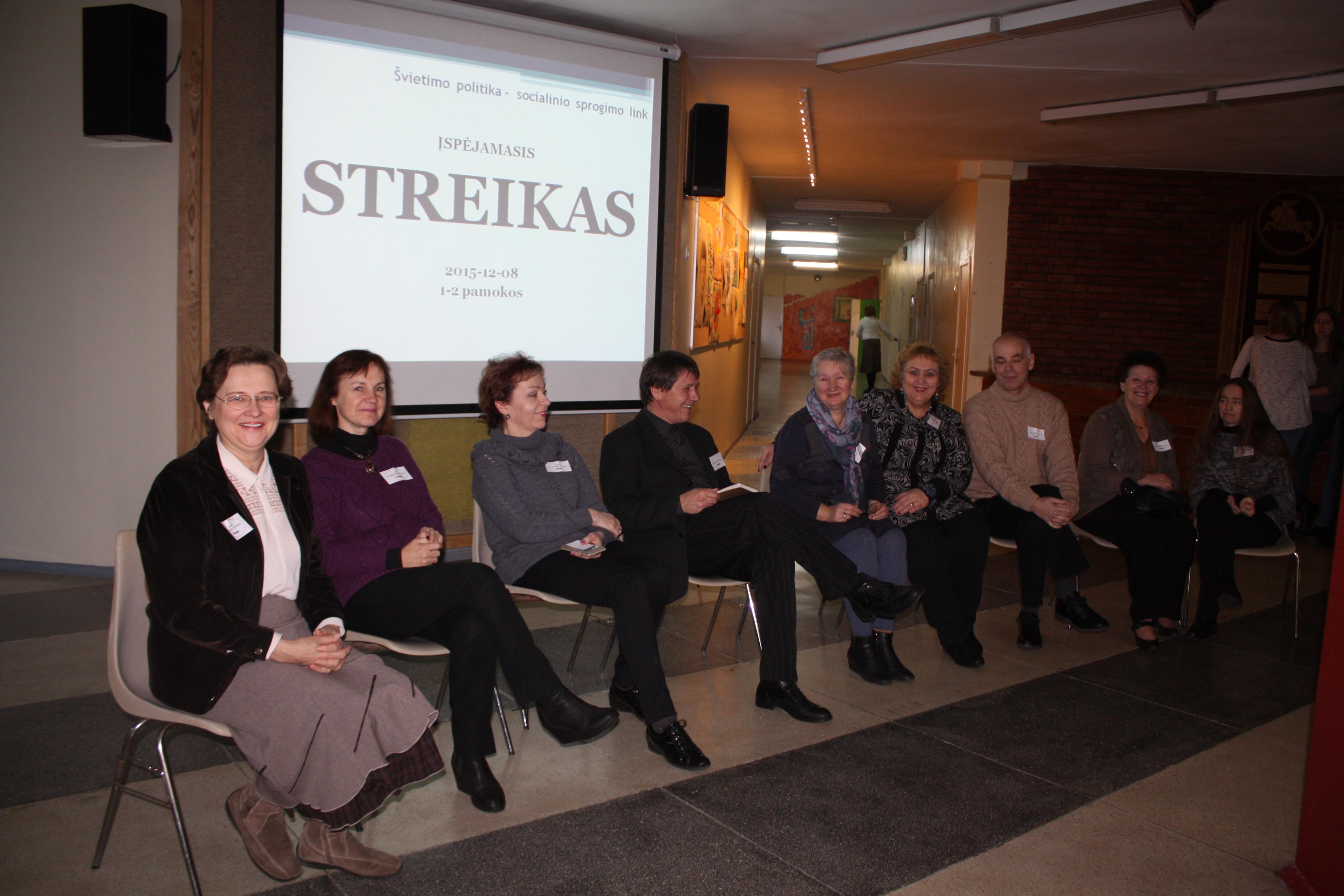 Pedagogų streikas: pinigai ir pilietiškumas