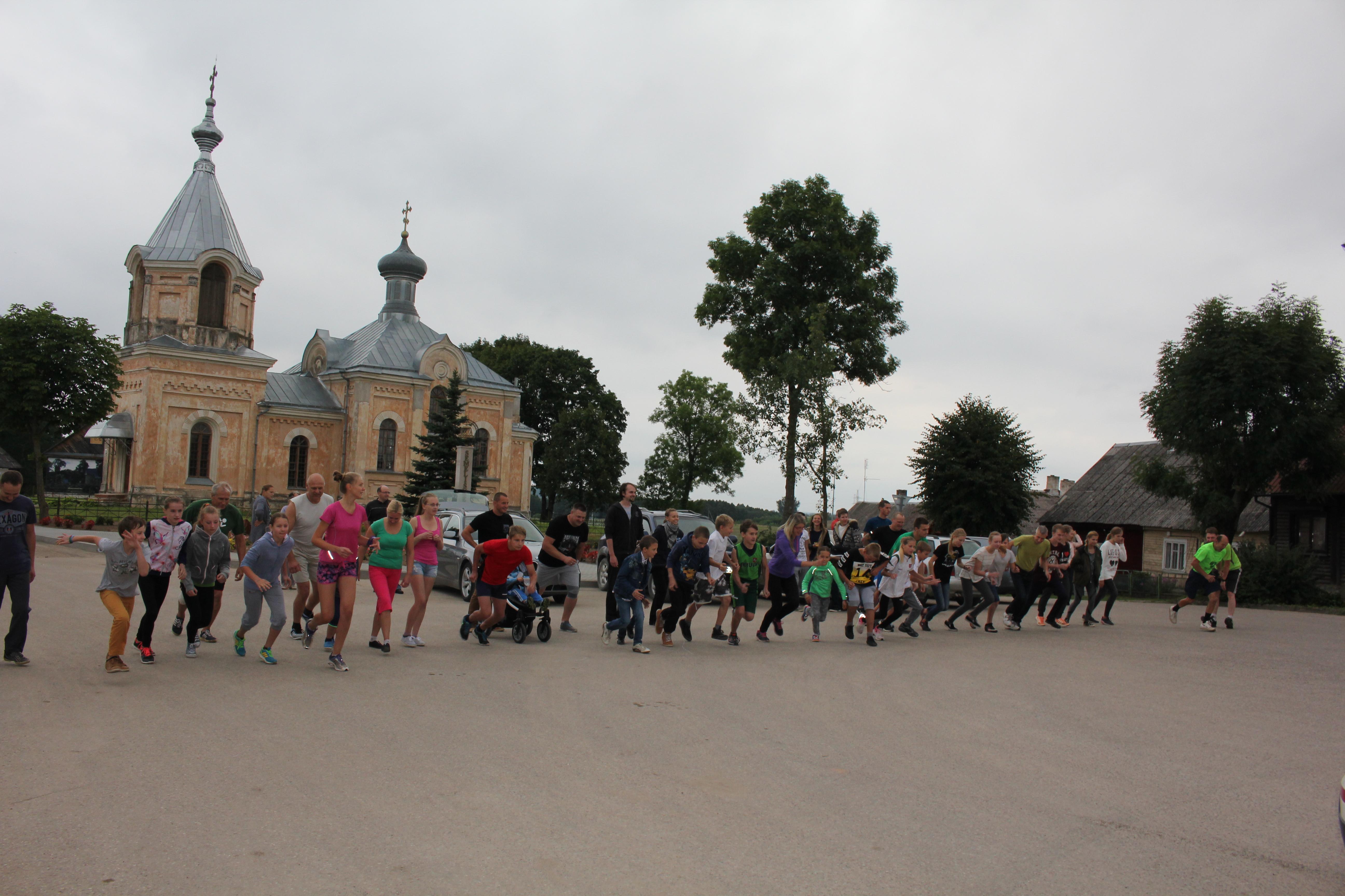 Bėgimo Semeliškių festivalyje Šv. Roko garbei istorija