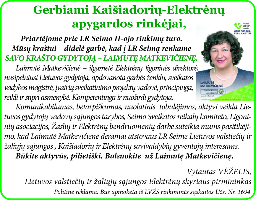 Už L.Matkevičienę