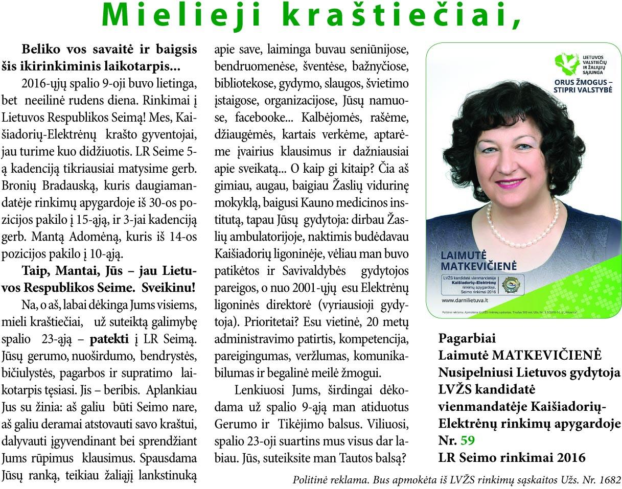 L. Matkevičienė