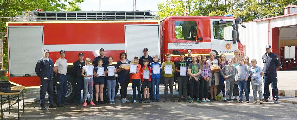 Jaunųjų ugniagesių varžybos