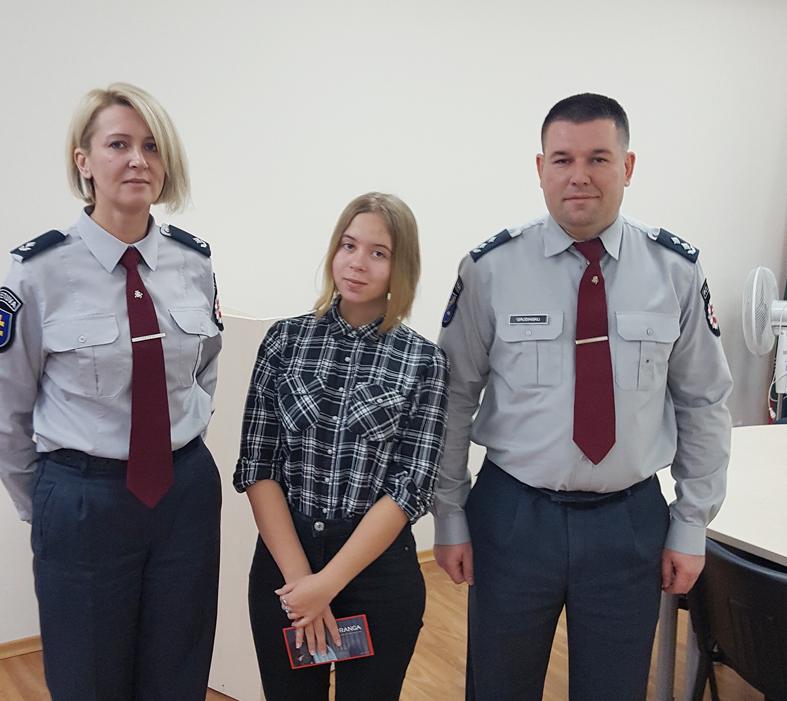 Elektrėnų policijos jaunoji policijos rėmėja geriausia apskrityje