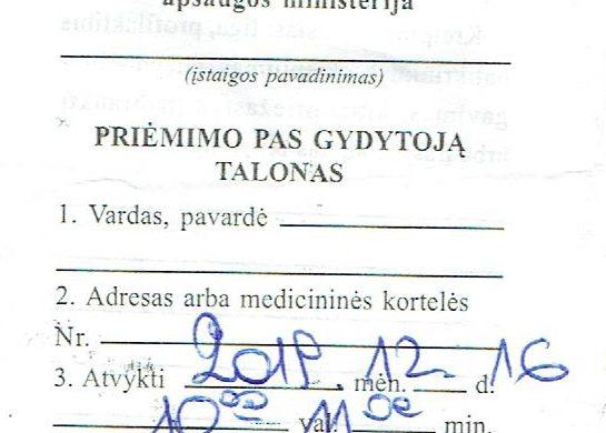 Vizitas pas gydytoją – kantrybės išbandymas