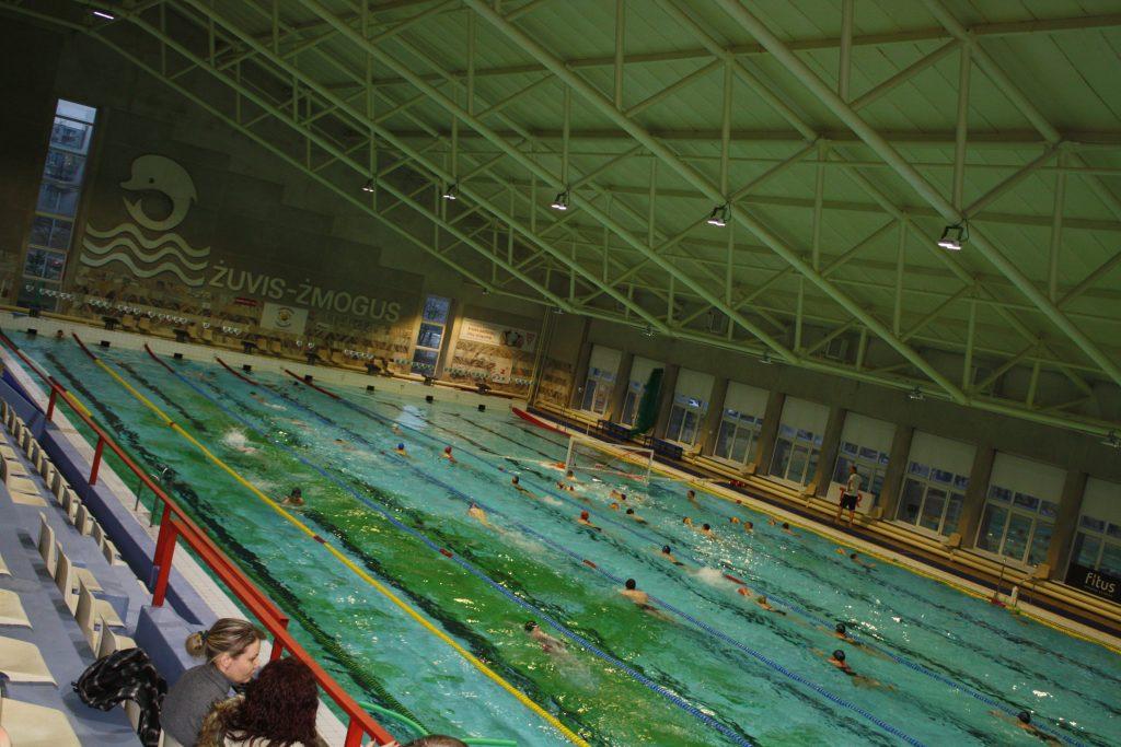 Žalios dėmės baseino dugne: galima maudytis ar ne?