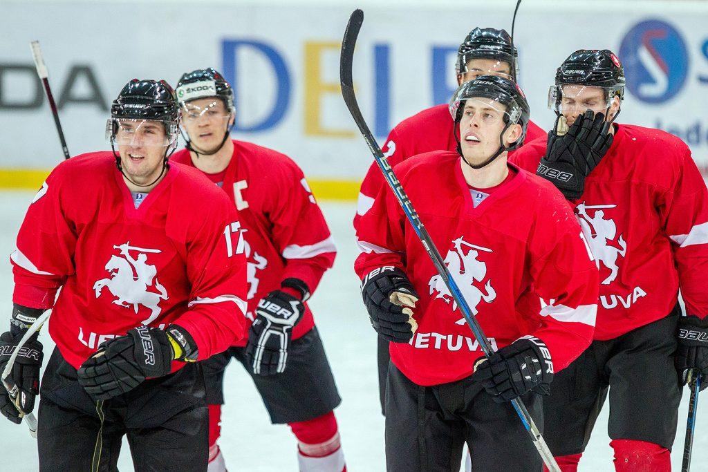 Kontrolinių rungtynių seriją Lietuvos ledo ritulio rinktinė pradėjo pergale prieš Estiją