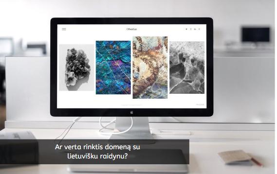 Ar verta rinktis domeną su lietuvišku raidynu?