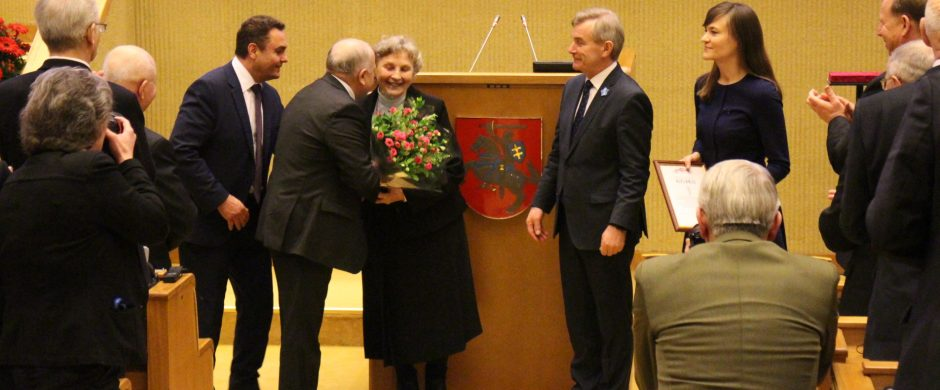 2017-ųjų Laisvės premija įteikta laisvės gynėjai, politinei kalinei Nijolei Sadūnaitei