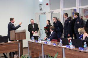Savivaldybės taryba ir ugniagesiai gelbėtojai į pensiją palydi ilgametį ugniagesį gelbėtoją P. Danilkevičių