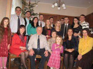 Kalėdų šventė gausioje Stepankevičių šeimoje