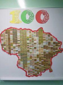 """Lietuvos žemėlapis """"Aš - dalis Tavęs"""""""