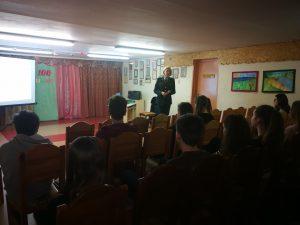 Paskaitą vedėVilniaus apskrities vyriausiojo policijos komisariatoElektrėnų policijos komisariatoVeiklos skyriaus vyriausioji tyrėja Erika Čaikovskaja.