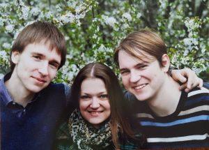 Romos Važgėlienės vaikai (iš kairės): Julius, Raminta, Justas