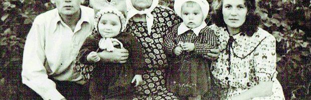 Tremtyje: Marcelė su sūnumi Vytu ir jo sūnumi Antanu ir dukra Danute bei jos dukra Birute