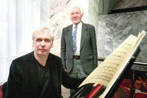 Justinas Rinkevičius su sūnumi Gintaru, žinomiausiu Lietuvos ir pasaulio dirigentu