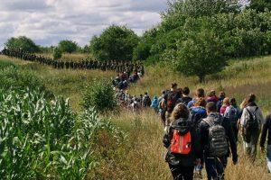 Žygyje dalyvavo 1200 dalyvių. Martynos Skripkauskaitės nuotr.