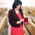 Medaliu džiaugiasi E. Janavičienė