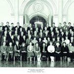 Lietuvos delegacija TSRS Švietimo darbuotojų suvažiavime Maskvoje, R. Lengvinas stovi antroje eilėje centre
