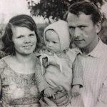 Laima ir Juozas Tidikiai su dukra Daiva, 1966 m.