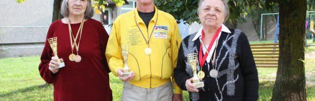 """""""Aukštaitijos taurės"""" 4 ir 5 turo laimėtojai: Birutė Kazlauskienė,  Anatolijus Šugajevas ir Vlada Kibarienė"""