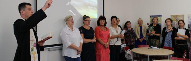 Kunigas pašventino naująją tikybos klasę