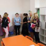 Mokytojai apsilankė Visuomenės sveikatos specialistės kabinete, kuris po vasaros tapo daug šviesesnis ir jaukesnis