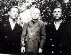 Trys broliai (iš kairės): Donatas Jonas, Rimantas Kazimieras ir Algimantas Aleksandras Radžiūnai
