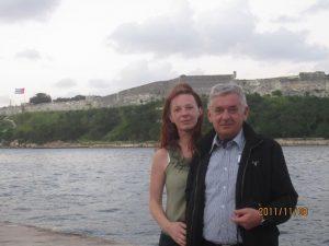 A. Šumskas su žmona Violeta