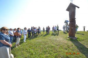 Giminės angelo ir kitų dviejų naujų skulptūrų pagerbimas Angelų kalvoje 2018-09-09
