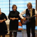 Vokalinis trio: Jadvyga Strasevičienė, Janeta Ališauskienė ir Adolfas Blažonis