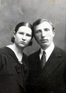 Alfonsas ir Marijona Radžiūnai, vos sukūrę šeimą