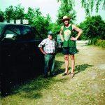 Aleksas su giminaičiu Arvydu Saboniu