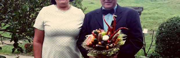 Nijolė Ustilienė su vyru Česlovu