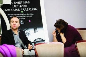 Aivaras Dočkus ir Elvyra Kasperavičienė Švietimo ir mokslo ministerijoje